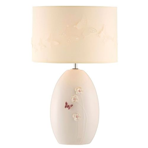 Belleek Living Blush Butterfly Meadow Lamp & Shade